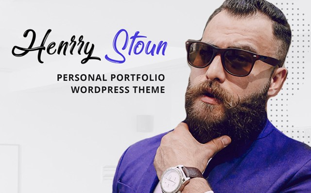 Henry Stoun - Personal Website WordPress Theme