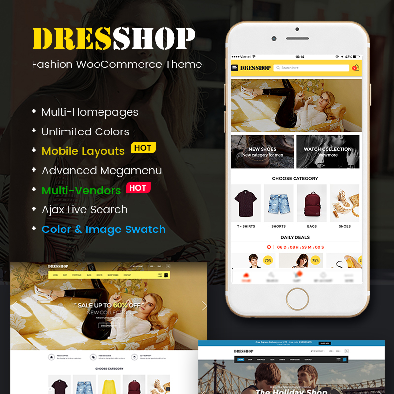DresShop - Clean Fashion Responsive WooCommerce Theme