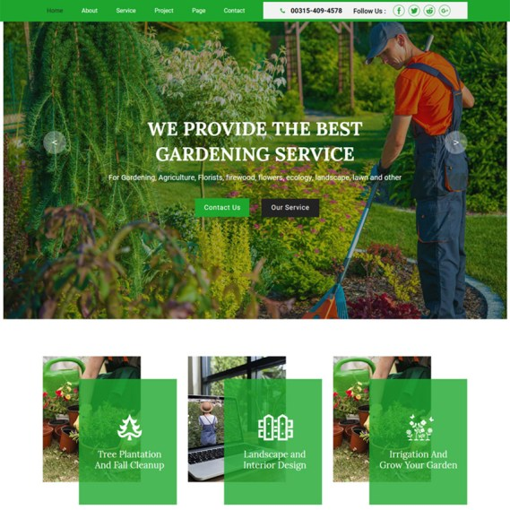 Greencare - Gardening & Landscaping Muse Template