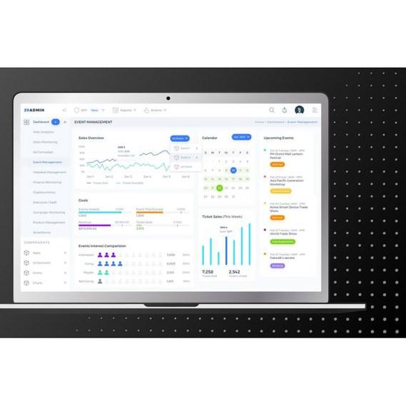 Event Management Admin Dashboard UI UI Elements