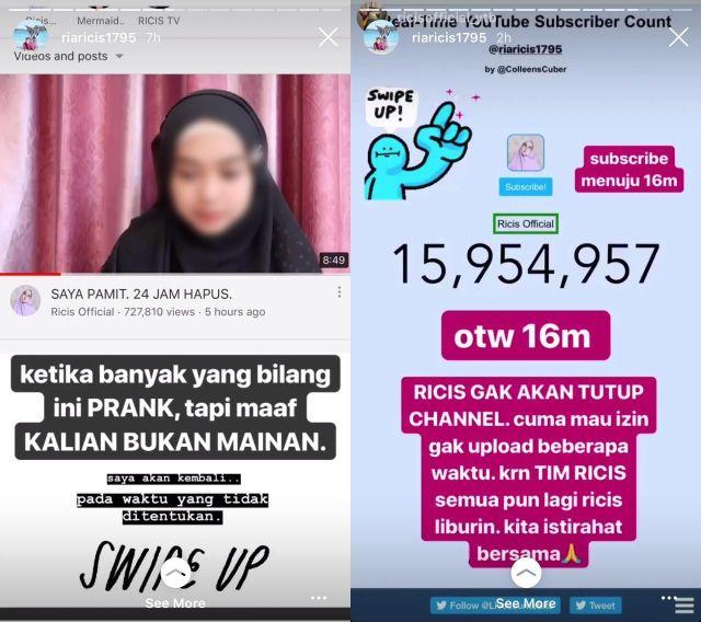 hipwee WhatsApp Image 2019 07 28 at 08.26 horz Ria Ricis Pamit, Subscriber 16 Juta Apa Gak Sayang, Ini Faktanya!