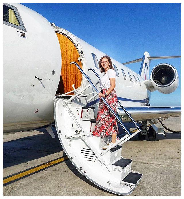 Jet pribadi3 Potret Kemewahan Artis Indonesia Diatas Jet Pribadinya