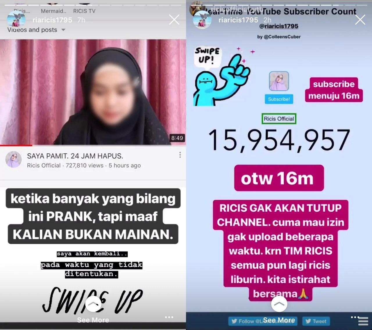 %name Ria Ricis Pamit, Subscriber 16 Juta Apa Gak Sayang, Ini Faktanya!