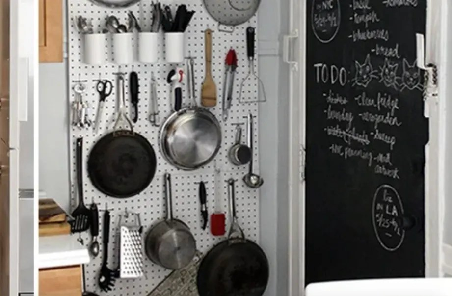 Gantungan Alat Masak pada Dapur Minimalis