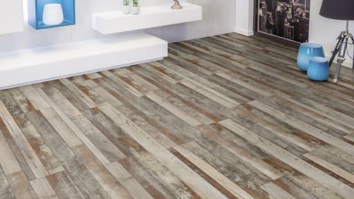 realistic barnwood porcelain planks