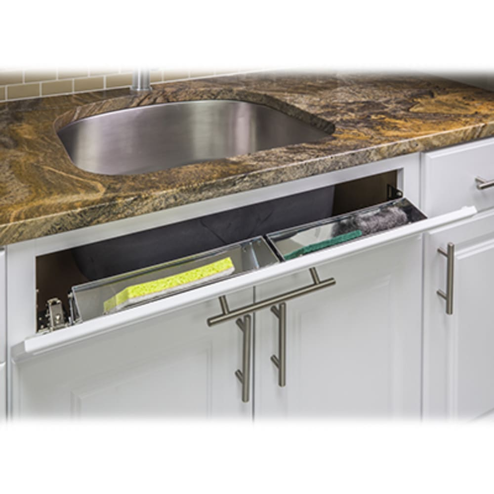sink front tip out storage tray 14 wide