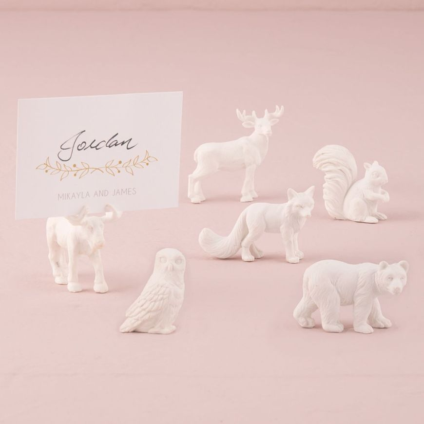 Miniature Woodland Assorted Animal Set White