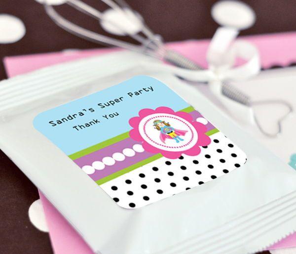 EB2002SHG-Super Hero Girl Birthday Personalized Lemonade + Optional Heart Whisk