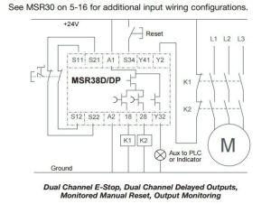 MSR38DDP safety relay circuit  Circuit design  EngTips