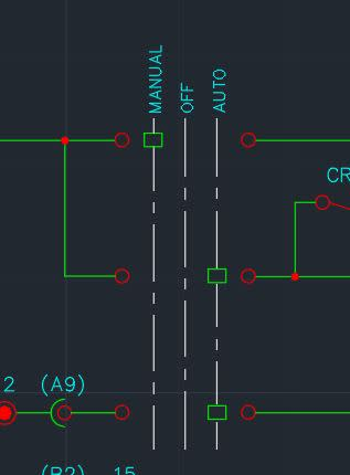 how to draw a 2position selector switch and its contacts