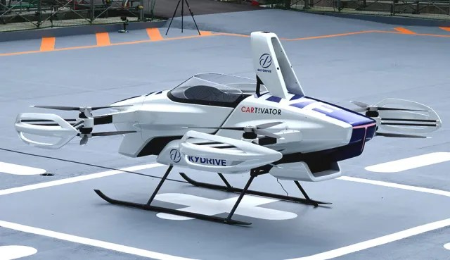 SkyDrive's SD-03 is on schedule for 2023 commercialization, potentially making flying taxis a reality. (Image courtesy of SkyDrive.)