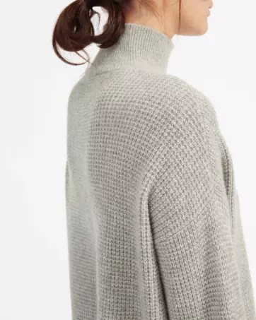 The Cashmere Waffle Square Turtleneck - Everlane