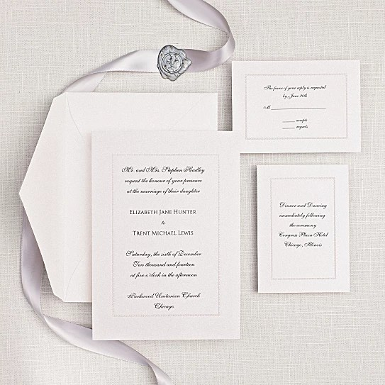 Rosemont Fl Embossed Wedding Invitations