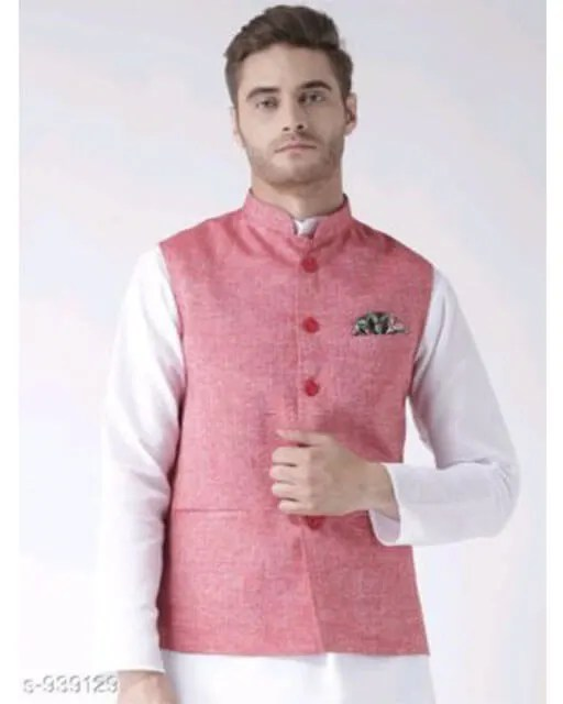 Hangup Mens Stylish Solid Ethnic Jacket Vol 1 (8)