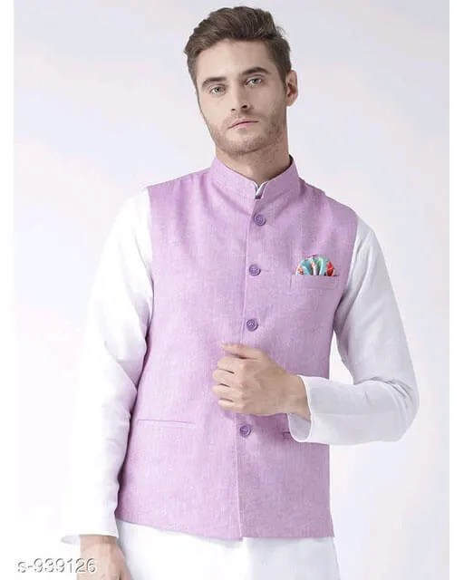 Hangup Mens Stylish Solid Ethnic Jacket Vol 1 (3)