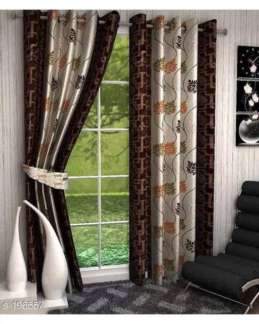 Printed Polyester Door Curtains Vol 2-7