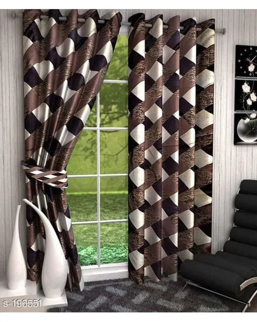 Printed Polyester Door Curtains Vol 2-13