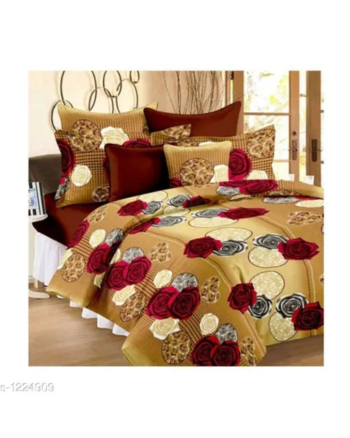 Stellar Latest Poly Cotton Double Bedsheets Vol 1 (8)