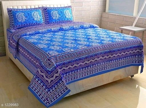 Decor Jaipuri Cotton Printed Double Bed Sheets Vol 1