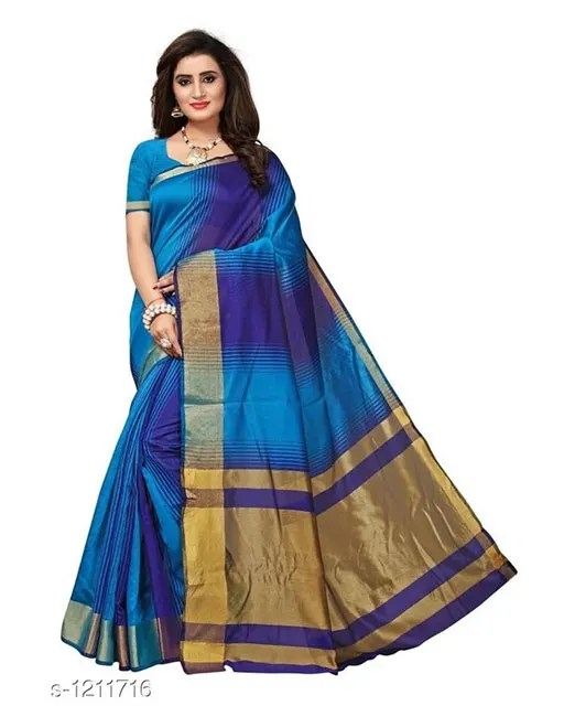 Jivika Attractive Cotton Silk Women's Sarees