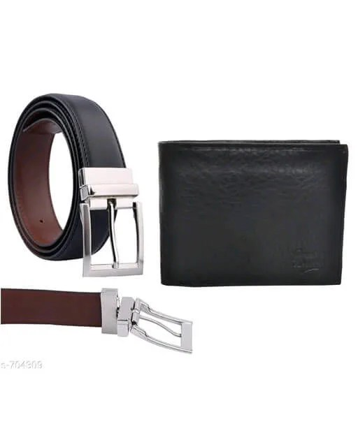 Stylish Men's Leather Reversible Belts With Wallet web Vol 2 (4)