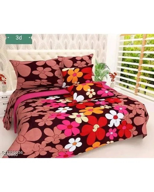 Blissful Comfort Glace Cotton Printed Double Bedsheets Vol 17 (1)