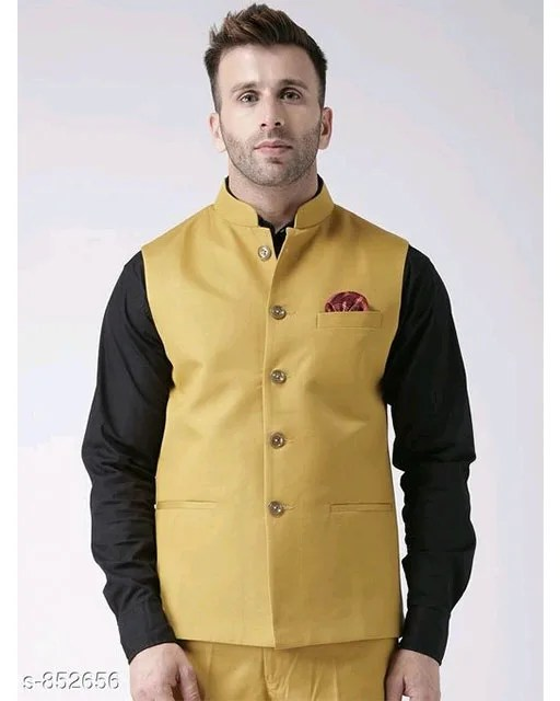 Perfect-Fit Men's Polyester Viscose Waist Coats Vol 1 (10)