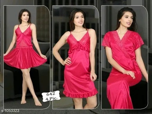 Fancy Satin Night Dresses Vol 1
