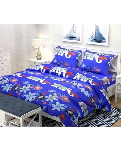 Smart Buy Colorful Beautiful 3D Printed Double Bedsheets Vol 1 (9)