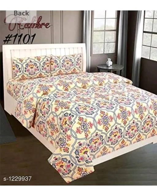 Blissful Comfort Glace Cotton Printed Double Bedsheets Vol 17 (4)