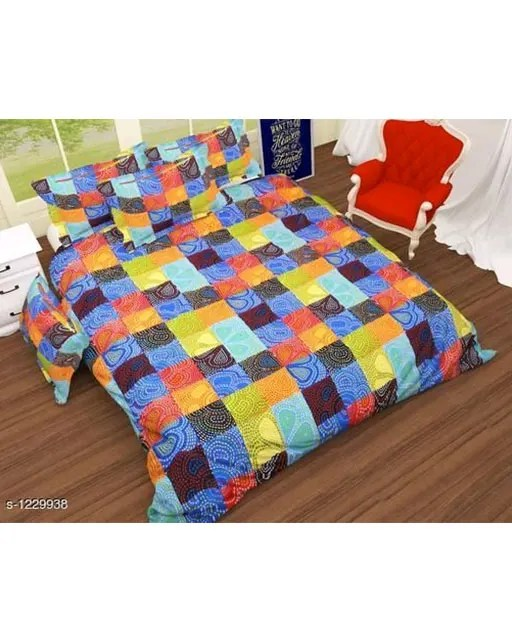 Blissful Comfort Glace Cotton Printed Double Bedsheets Vol 17 (5)