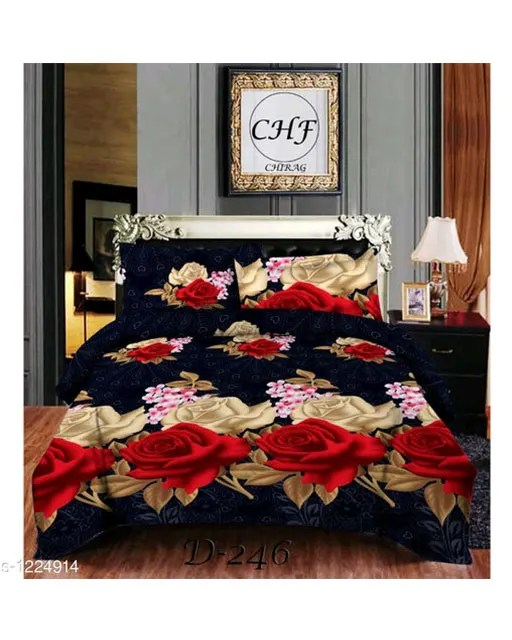Stellar Latest Poly Cotton Double Bedsheets Vol 1 (7)