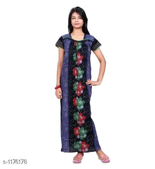 Ladies Cotton Printed Nighty Vol 3