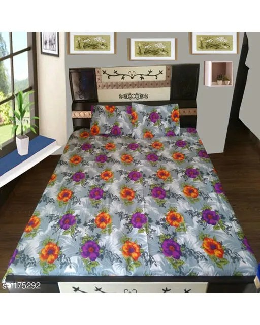 Splendor Exotic Poly Cotton Double Bedsheets Vol 3 (4)
