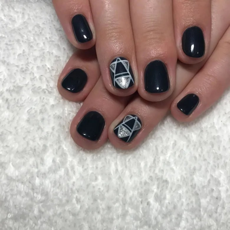 sexy black nail art