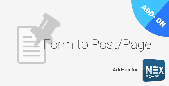 NEX-Forms – Form to Post/Page Add-on Wordpress Plugin Free Download
