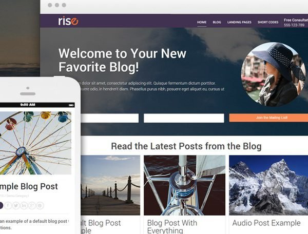 Thrive themes rise wordpress theme free download