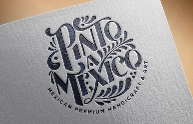 Detalle logo Pinto a México