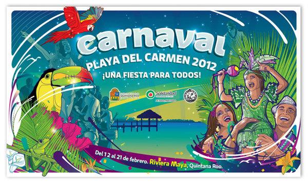 Carnaval 2012 Playa del Carmen - anuncio