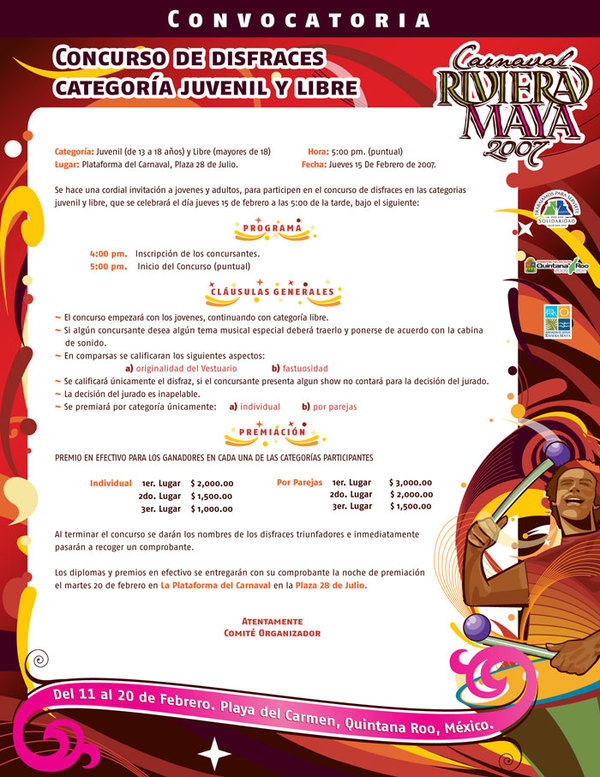 Carnaval Riviera Maya 2007 - convocatoria