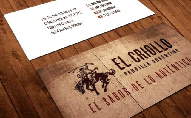 El Criollo - tarjeta de presentación