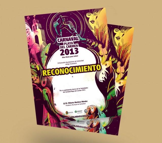 Reconocimiento Carnaval Playa del Carmen 2013