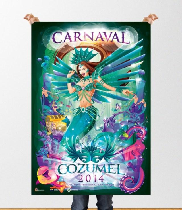 Poster Carnaval Cozumel 2014