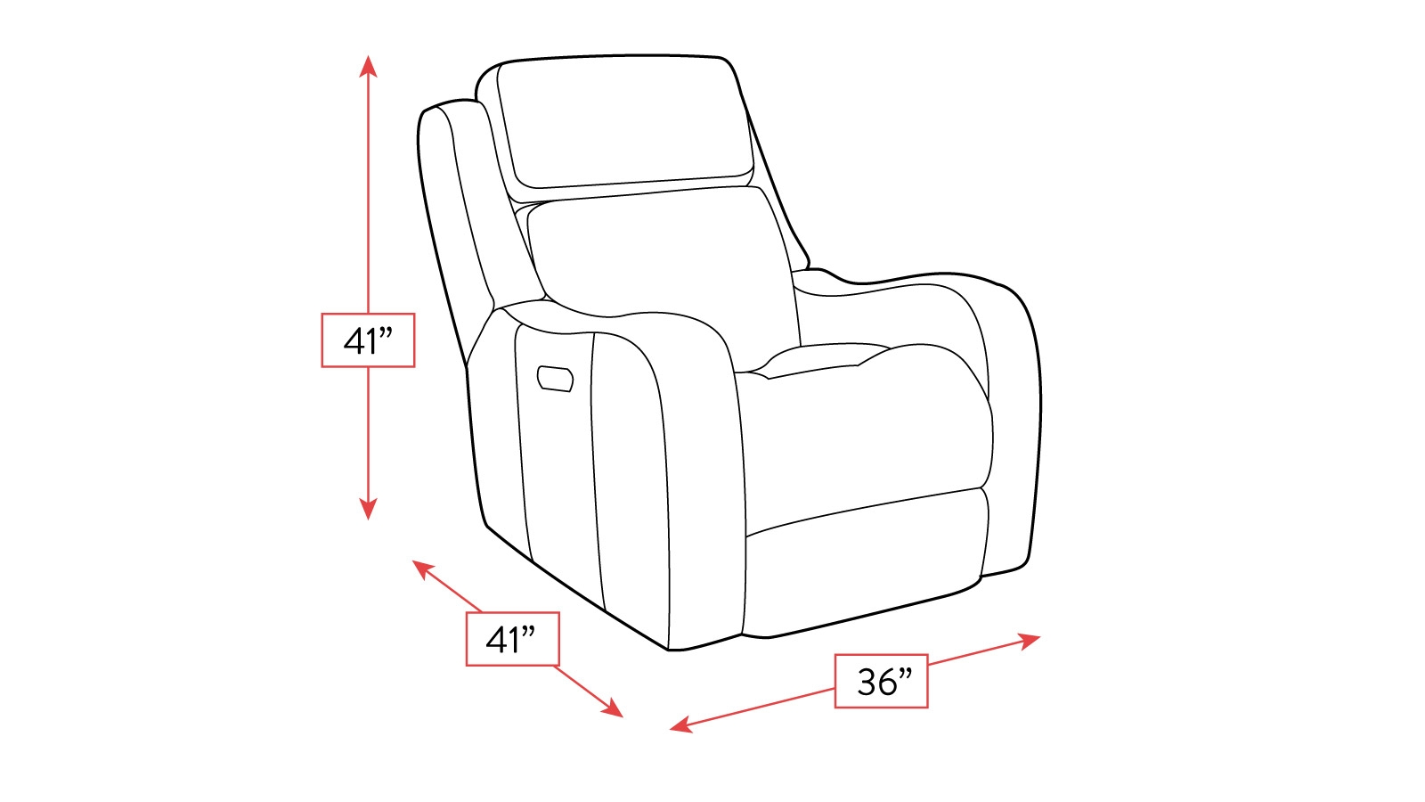 Alamo Power Glider Recliner W Power Headrest