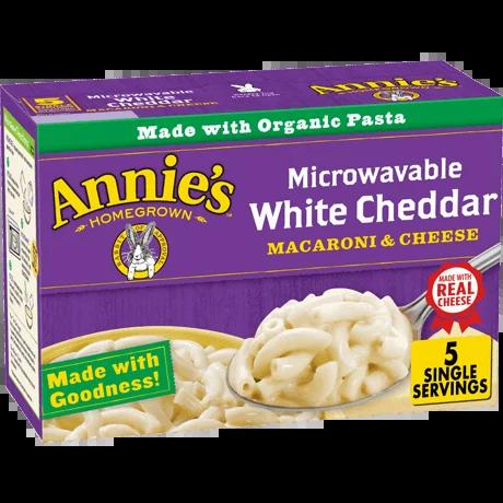 white cheddar microwavable mac cheese