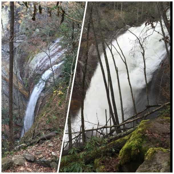 Water released from Lake Glenville dam fills High Falls and the Tuckasegee River for kayaking