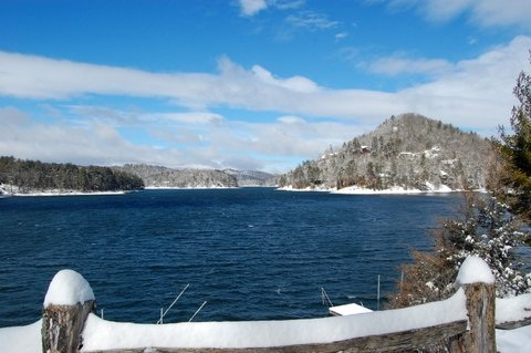 Lake Glenville NC Snow