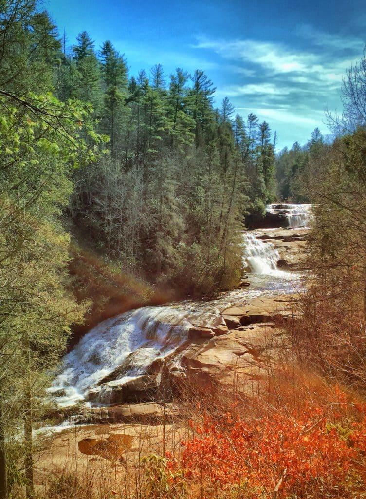 Beautiful Triple Falls near Brevard, NC