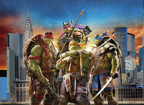 The movie 'Ninja Turtles' released in 2014.  One of the Paramount / Photo franchises: courtesy of yes