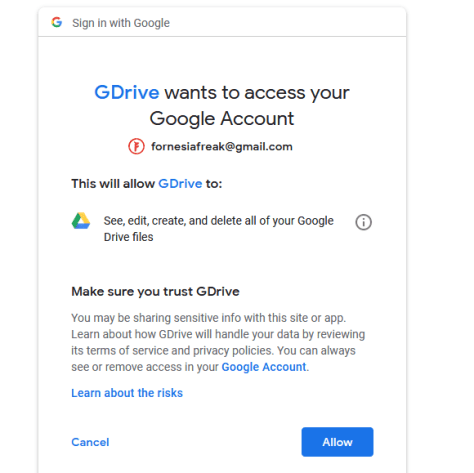 Upload File to Google Drive With Linux From Command Line 3